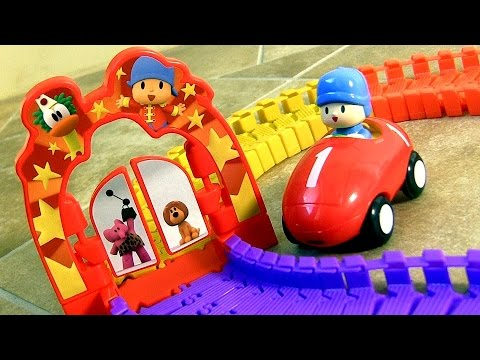 Pocoyo Super Circuit Race Track - Supercircuito Pista de Corridas Musical Motorized Car by Blutoys