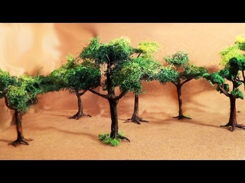 Diorama (parte 2) Árvores - Miniature (part 2) Trees