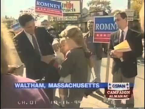 Mitt Romney Campaigning door to door in 1994