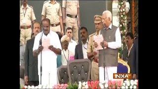 Karnataka swearing-in: HD Kumaraswamy sworn in as CM in presence of top Opposition leaders - INDIATV