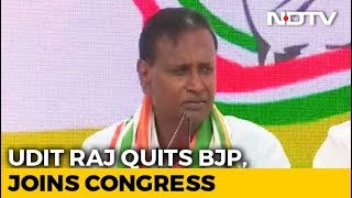 "Clear How Anti-Dalit BJP Is"": Lawmaker Udit Raj, Snubbed, Joins Congress - NDTV"
