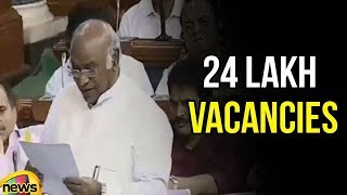 Mallikarjun Kharge Says There are about 24 lakh Vacancies, which Should Be Filled | Mango News - MANGONEWS