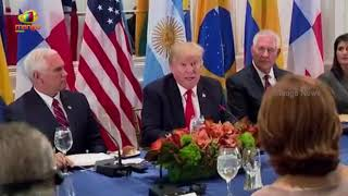 President Trump Attends a Working Dinner with Latin American Leaders | Mango News - MANGONEWS