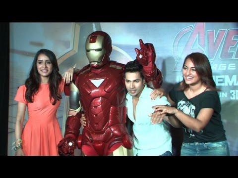 Varun, Shraddha & Sonakhi's Evening With Ironman!
