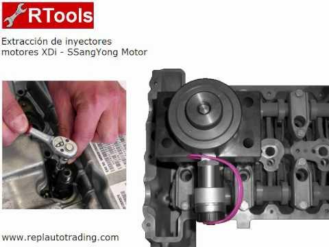 RTools - Herramientas Extracción Inyectores motores XDi SSangYong Motor