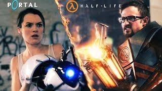 Half life vs Portal, pelando por un pastel