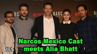 Narcos Mexico Cast meets Alia Bhatt for Fun Interaction - IANSLIVE