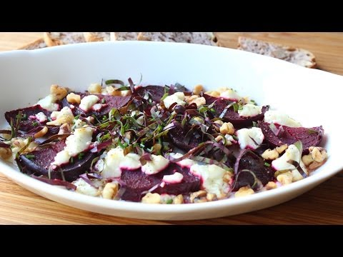foodwishes - Roasted Beets with Goat Cheese and Walnuts - Easy Roast Beets Recipe - Learn how to make Roasted Beets with Goat Cheese and Walnuts ! Go to http://foodwishes.blogspot.com/2013/10/local-roasted-beets-with-goat-cheese.html for the ingredient amounts, extra information, and many, many more video recipes! I hope you enjoy this easy Roast Beets Recipe!