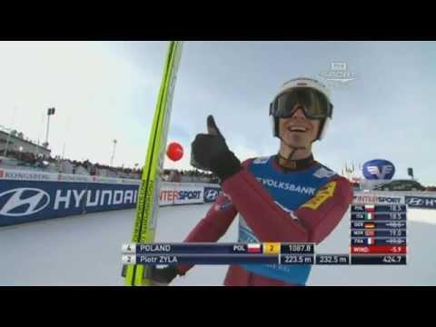 Skok Piotra Żyły w Vikersund, którym pobił rekord Polski i po którym udzielił ciekawego wywiadu