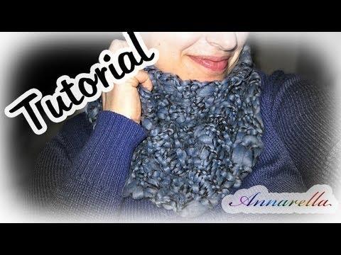 Tutorial sciarpa ai ferri semplice semplicissima! | DIY knitted scarf