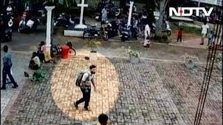 श्रीलंका विस्फोट: सीसीटीवी में कैद दिखा संदिग्ध हमलावर - NDTVINDIA