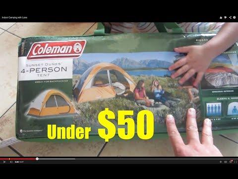 Kids Indoor Outdoor Camping Fun Coleman 4 Person Tent - Lana3LW
