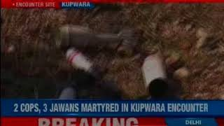 J&K: 2 cops and 3 army personnel martyred in an ongoing encounter in Kupwara's Halmatpora area - NEWSXLIVE