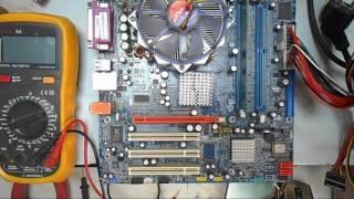 ремонт компьютеров . пробный запуск материнки