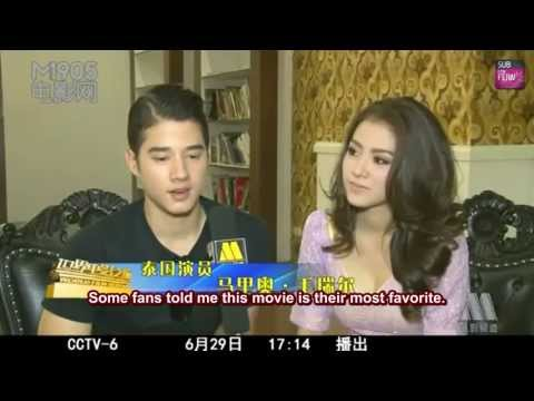 [ENG+CHI SUB] Baifern Pimchanok & Mario Maurer (Cut) @ CCTV-6 World Film Report (June 29, 2013)