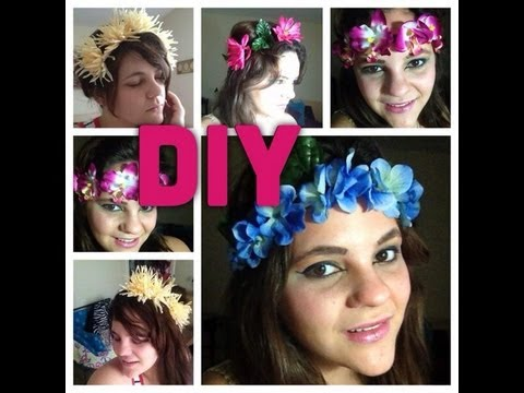 DIY corona de flores( cintillos de flores)