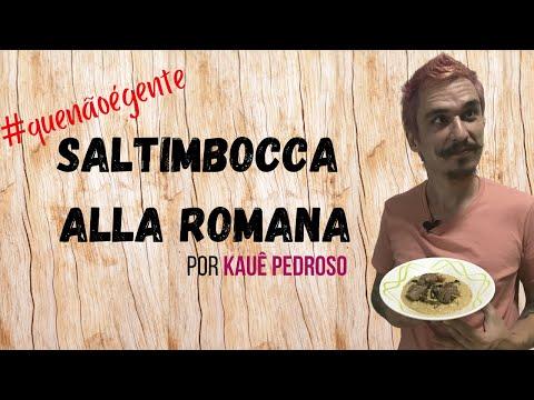RECEITAS DO KAUÊ - SALTIMBOCCA ALLA ROMANA