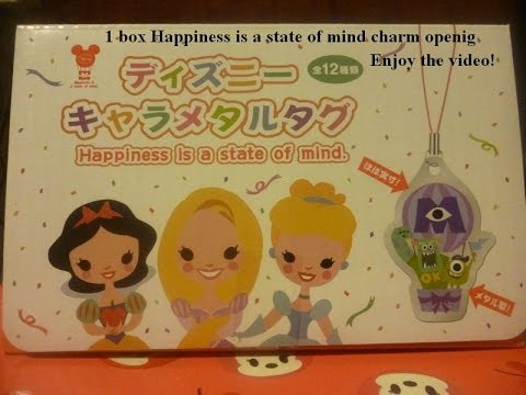 1 box Happiness is a state of mind charm metal tag opening Walt Disney Pixar movies ディズニー