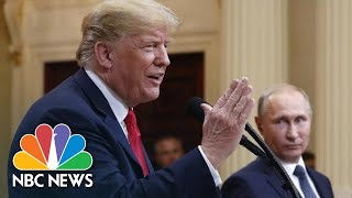 Instead Of Pressing Putin On Meddling, President Trump Calls For Clinton, DNC Servers   NBC News - NBCNEWS