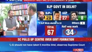 Supreme Court slams delay in Delhi govt formation - TIMESNOWONLINE