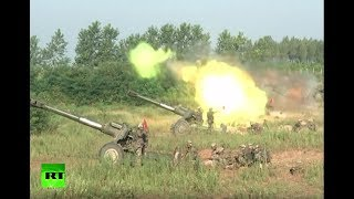 RAW: China holds massive day-night live-fire artillery drill - RUSSIATODAY