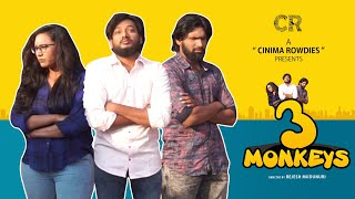 3MONKEYS | New Telugu ShortFilm 2020 | CinemaRowdies | Praveen | Siva | Supriya Rao K - YOUTUBE
