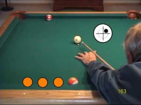 Custom pool drills - rail cut shots with english (sidespin), from VEPP V (NV C.19)