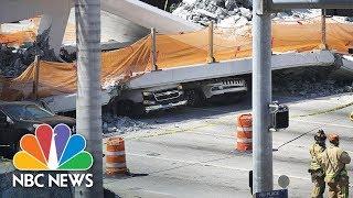 Watch Live: Bridge collapses at Florida International University near Miami - NBCNEWS