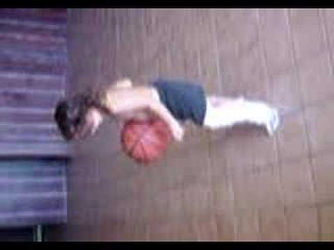 3 yr old with full leg cast bounces basketball 100x's