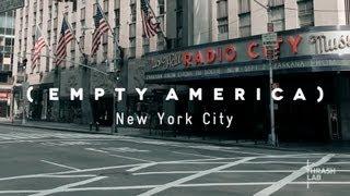 شوارع نيويورك الخالية !!