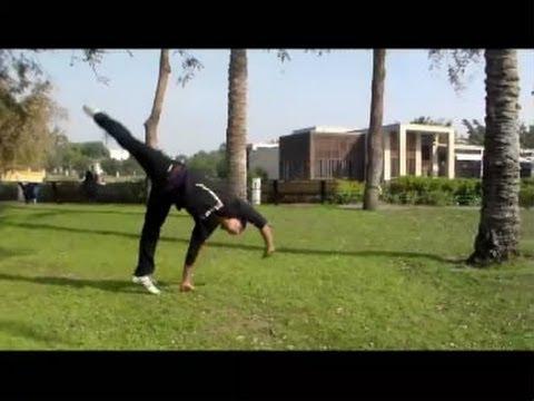 تعلم اسهل حركة جمباز بسرعة وسهولة واتقان مع نسر الكونغ فو how to do cartwheel perfect