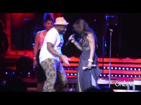 Toni Braxton Sings With Fan At Baltimore, MD Show