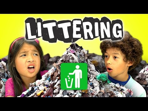 Kids React to Motorcycle Girl Against Littering