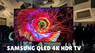 Samsung QLED 4K HDR TV - FIRST LOOK!!!