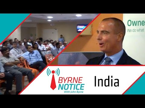 Byrne Notice: John visits India