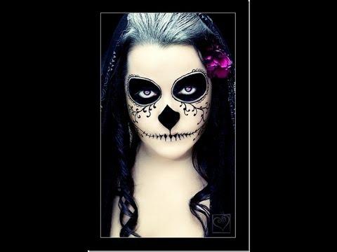 Maquillaje para dia de muertos| Calavera|♡