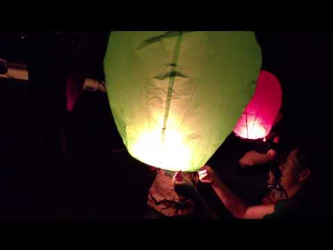 Sky Lanterns at the Cousin