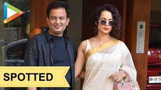 SPOTTED: Kangana Ranaut @ Kamal Jain office at Juhu - HUNGAMA