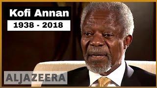 🇺🇳 Kofi Annan, former UN chief, dies at 80 | Al Jazeera English - ALJAZEERAENGLISH