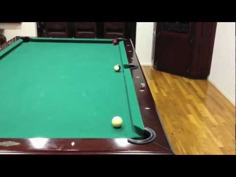Billiard Curve Shot