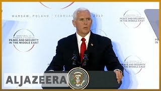 🇺🇸 🇮🇷 Middle East conference: Pence urges EU to quit Iran nuclear deal l Al Jazeera English - ALJAZEERAENGLISH