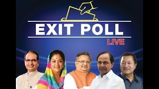 Watch: Exclusive 2018 exit poll results of Rajasthan, Telangana, Chhattisgarh, Mizoram, MP - NEWSXLIVE