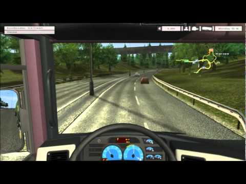 Euro Truck Simulator  Video Part 1 Racing The Red Truck