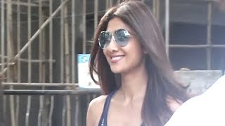 Shilpa Shetty spotted at a salon in Juhu - TIMESOFINDIACHANNEL