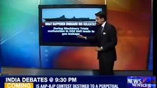 INS Kolkata : 2 officers rushed to hospital, 1 dead - NEWSXLIVE