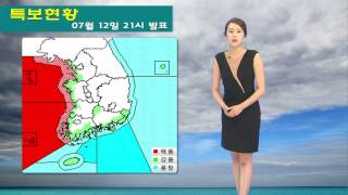 날씨속보 07월 12일 21시 발표