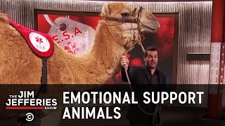 Leave Your Emotional Support Camel At Home - The Jim Jefferies Show - COMEDYCENTRAL