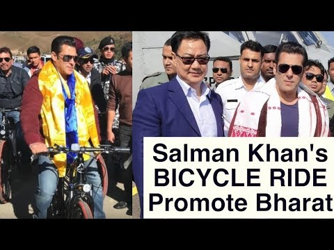 Salman Khan goes cycling in Arunachal Pradesh with chief minister Pema Khandu