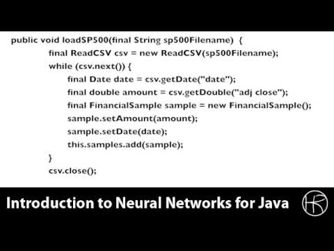 Introduction to Neural Networks for Java (Class 11/16, Part 3/5) predict stock market