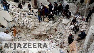 Syria's war: Air strikes kill at least 20 in Ariha - ALJAZEERAENGLISH